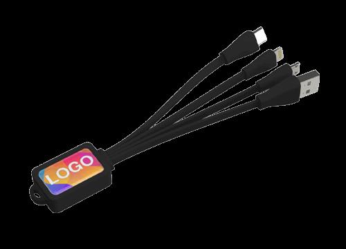 Multi - Logopainettu Mustekala Lataava USB Kaapelsetti