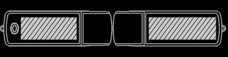 USB-muistitikku Silkkipainatus