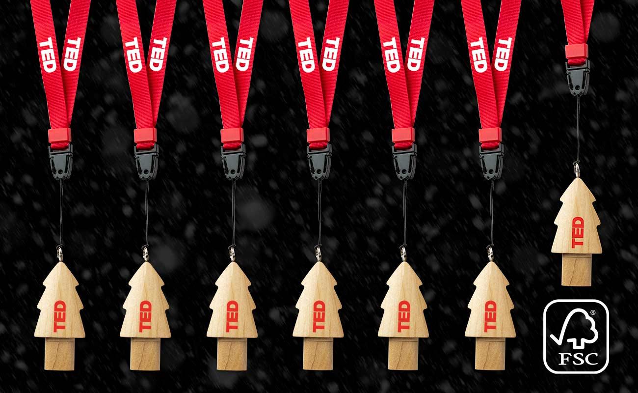 Christmas - Muistitikku Logolla