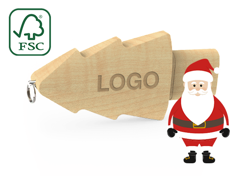Christmas - USB Tikkuja Logolla