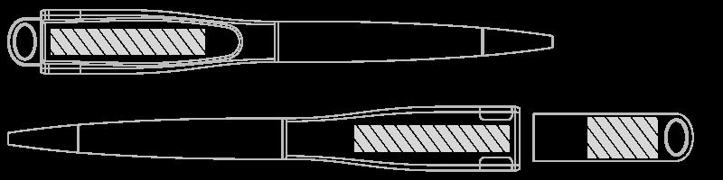 USB-muistikynä Silkkipainatus