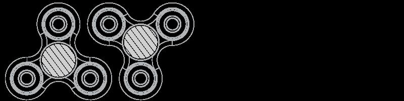 Fidget Spinner Silkkipainatus
