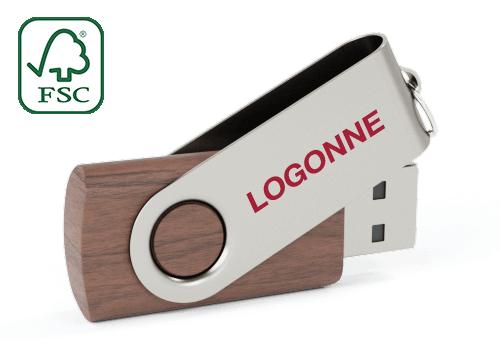 Twister Wood - Puinen USB Muisti_x000D_