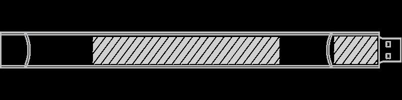 USB-muistiranneke Silkkipainatus
